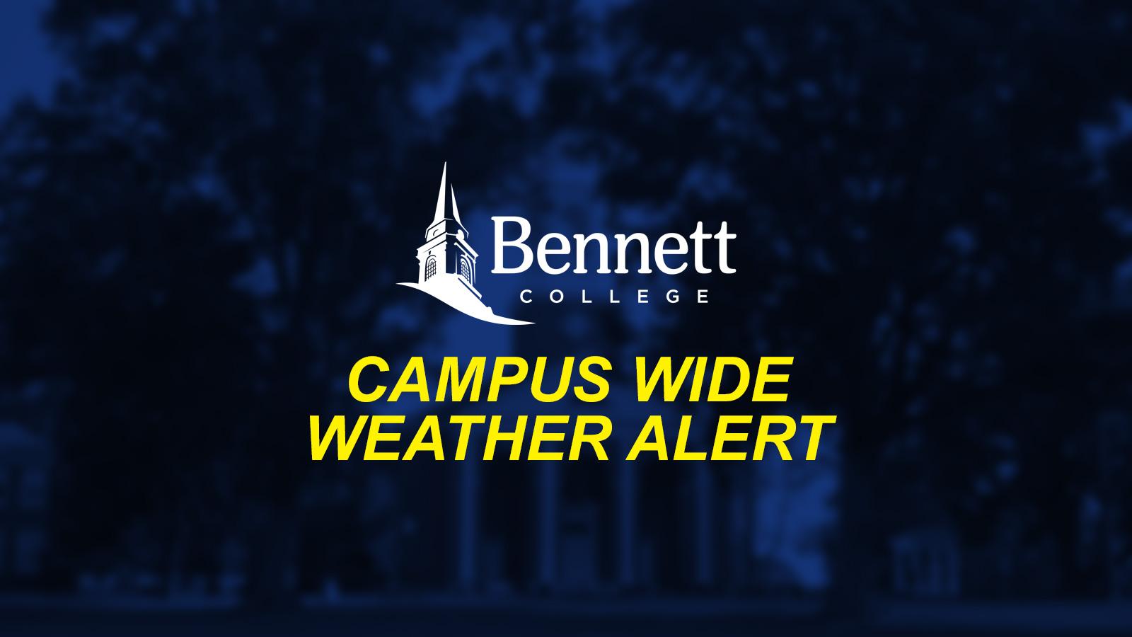 [UPDATE: 1/10/17 @ 6:28 PM] Campus Wide Alert (Weather Condition)