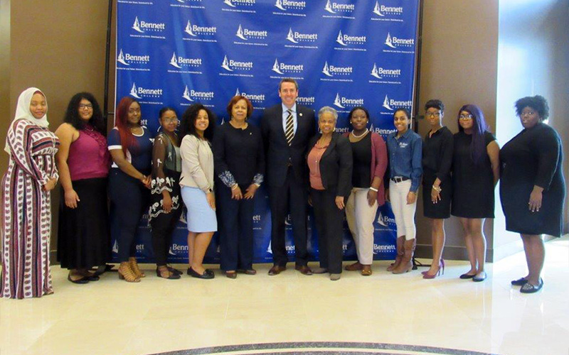 Rep. Mark Walker meets with Bennett College students and president