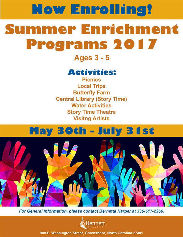 Summer Enrichment Program May 30th-July 31st, 2017 - Now Enrolling!