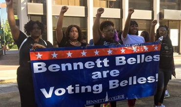 Bennett Belles march to the polls