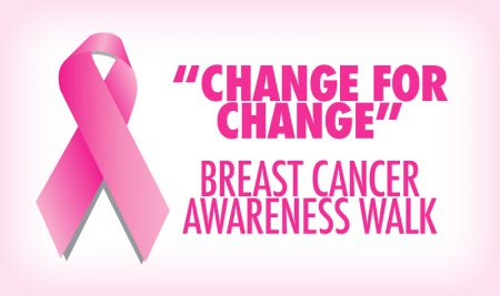 "Join the ""Change for Change"" Walk for Cancer Awareness on Friday, October 20th"