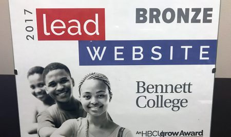 Bennett College website captures HBCUgrow LEAD Award