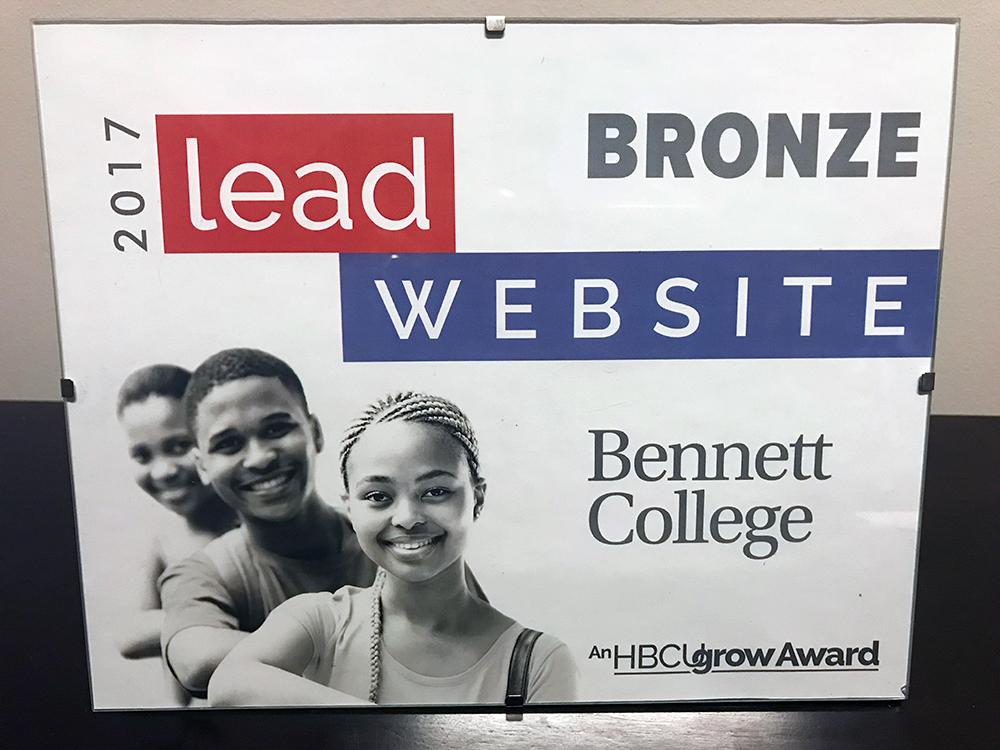 Bennett College website captures HBCUgrow LEAD Award