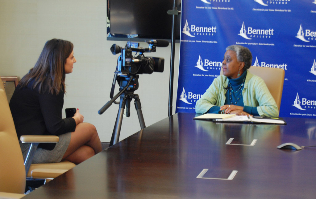 Bennett administrators, student interviewed by local TV station about the Time's Up Movement