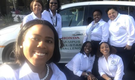 Belles and President Dawkins attend the Honda Campus All-Star Challenge in L.A.!