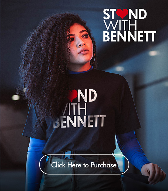 Purchase 'Stand with Bennett' t-shirt